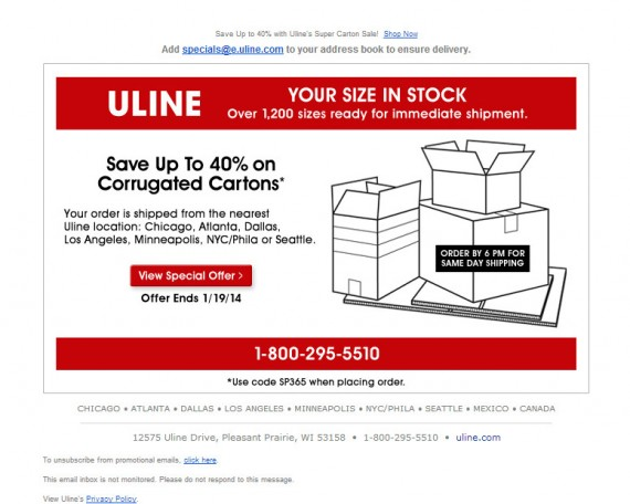 Unline made its offer simple.
