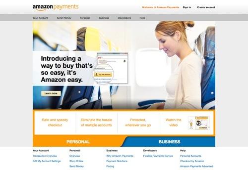 Amazon Payments website
