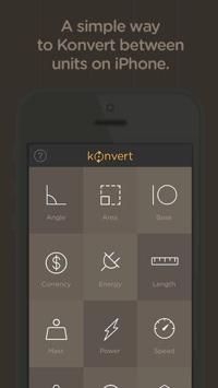 Konvert mobile app