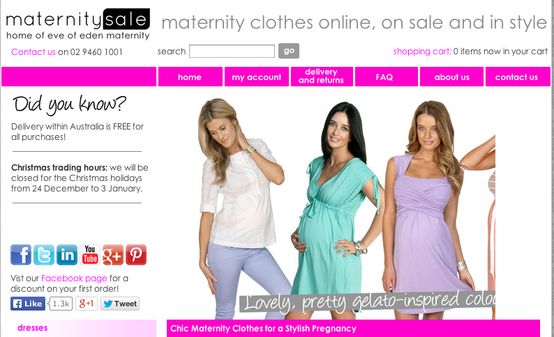 Lessons Learned: Fashionable Maternity Wear Sells | Practical ...