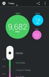 Moves mobile app