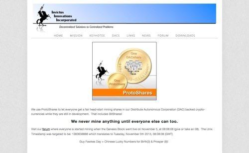 ProtoShares website