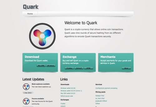 QuarkCoin website