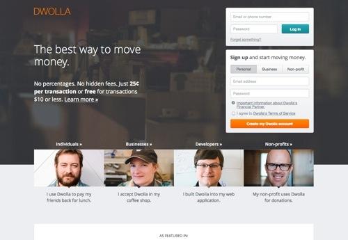 Dwolla website