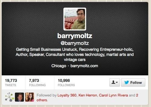 @barrymoltz Twitter site