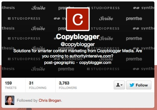 @copyblogger Twitter site