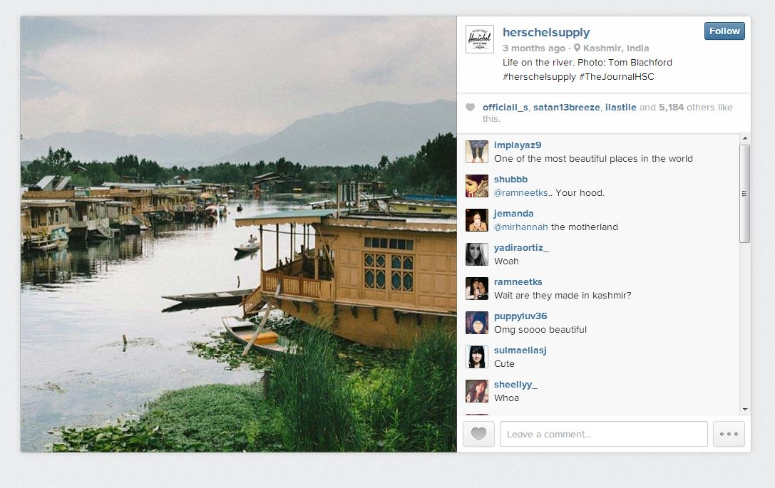 Herschel Supply Instagram