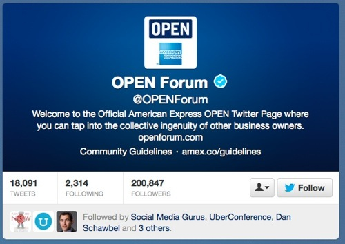 @OPENForum Twitter site