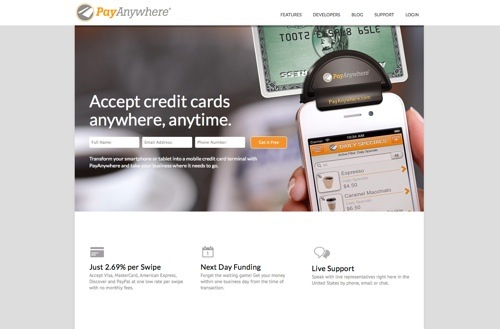 PayAnywhere website