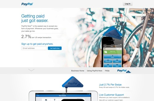 PayPal Here website