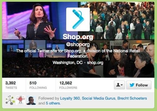 @shoporg Twitter site