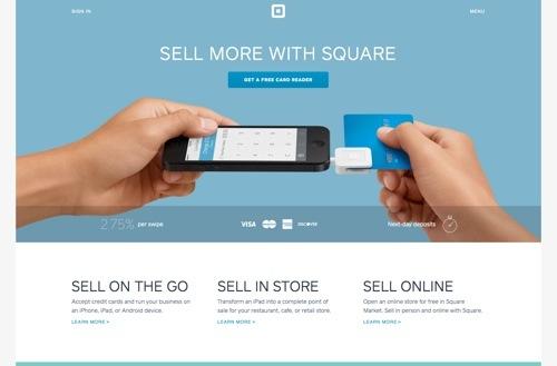 Square website