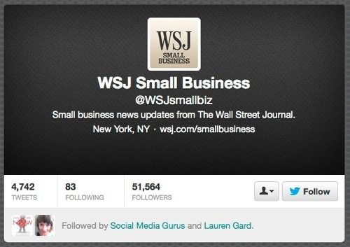 @WSJsmallbiz Twitter site