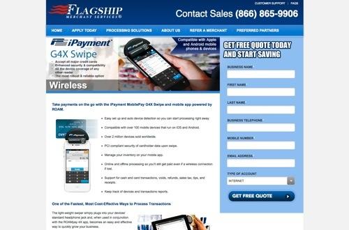 iPayment MobilePay website