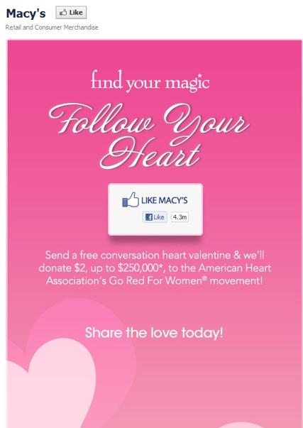 Macy's Valentine Promotion
