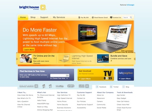 Bright House website