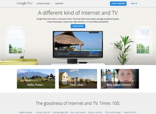 Google Fiber website