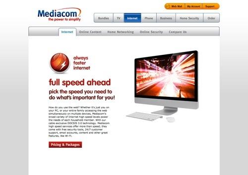 Mediacom website