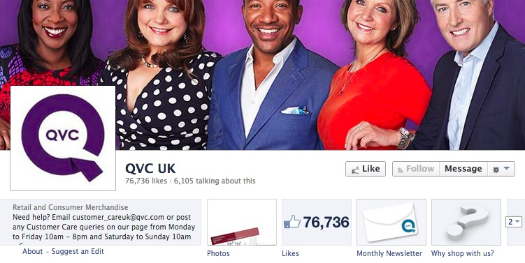 QVC has a 'Why shop with us?' app to answer some possible questions from new customers