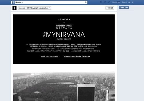 Sephora Facebook Contest
