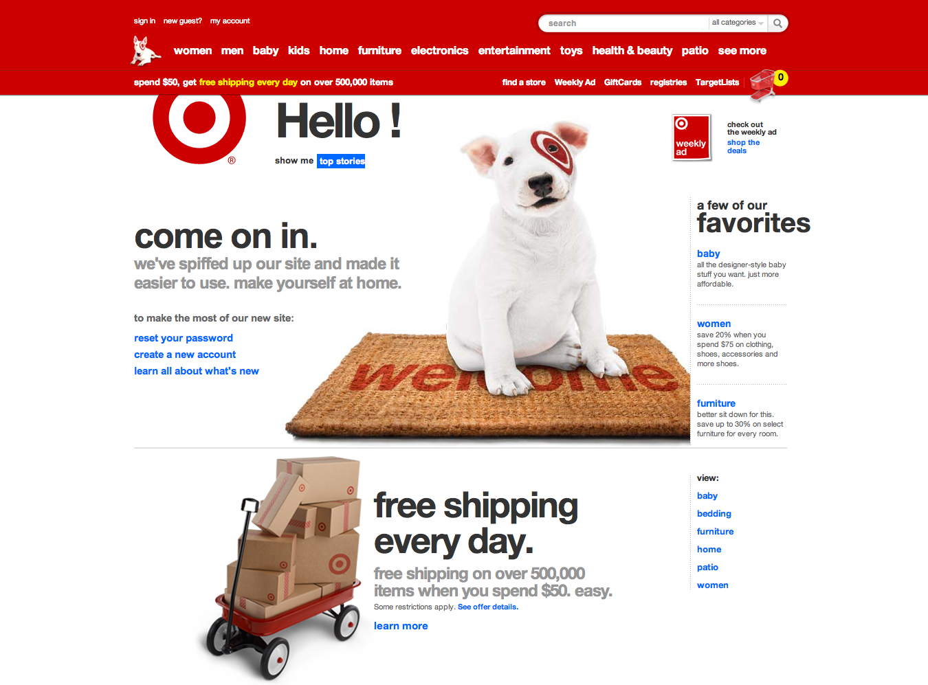 Target's old home page.