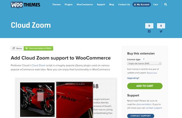 WooCommerce Cloud Zoom Plugin