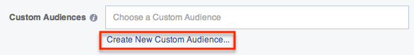 Create a new Custom Audience while setting up your ad.