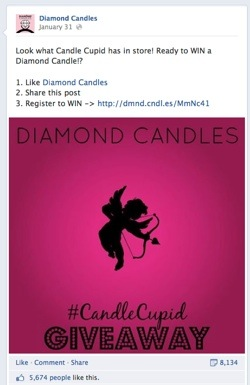 diamond candles facebook contest