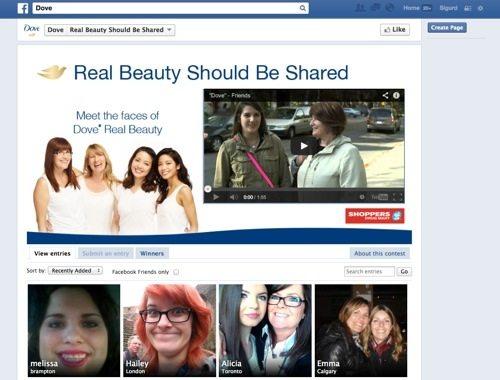 Dove Facebook Contest