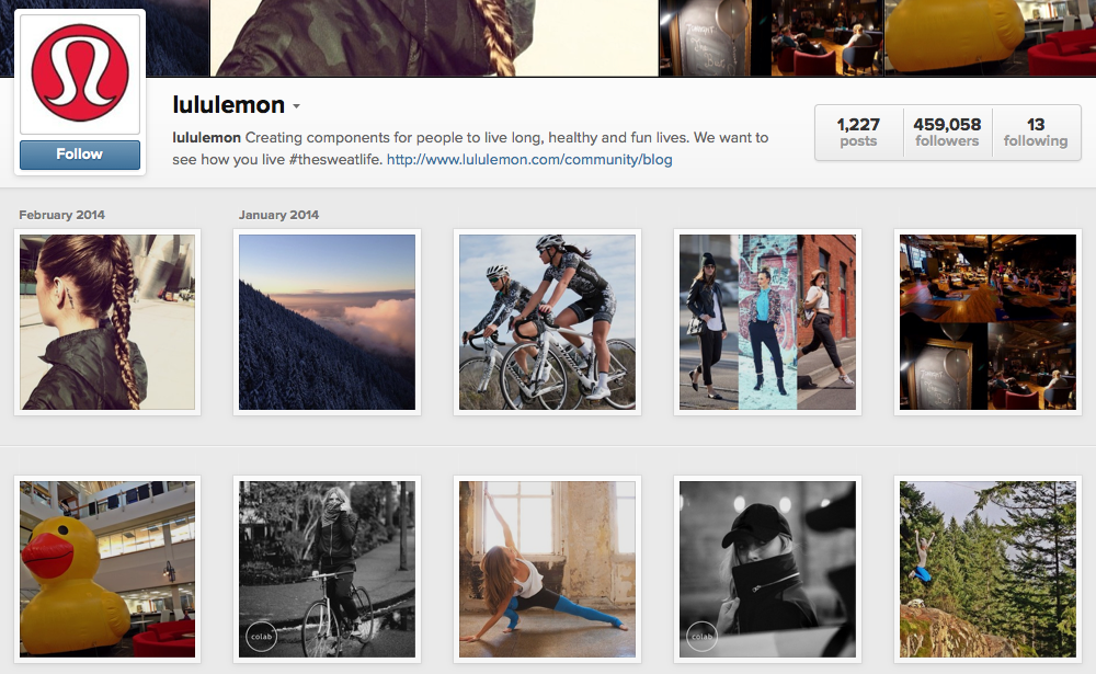 lululemon employs a variety of media formats to support its mission.
