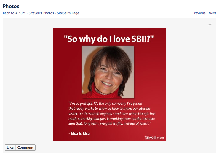 SiteSell lets customers help tell its story.