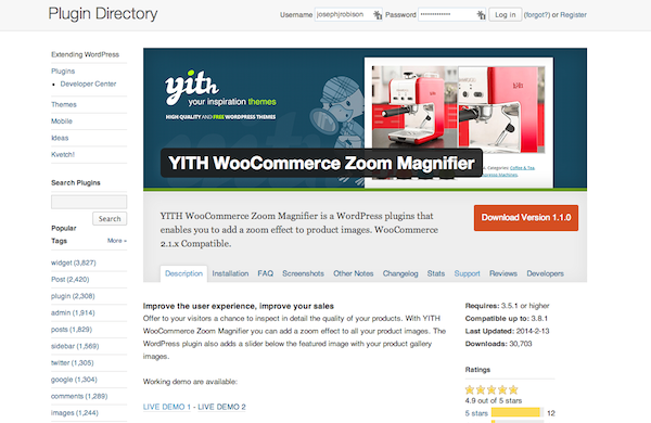 YITH WooCommerce Zoom Magnifier Plugin