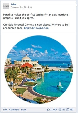 Zales Facebook Contest