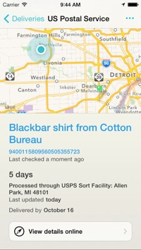 Delivery Status Touch app
