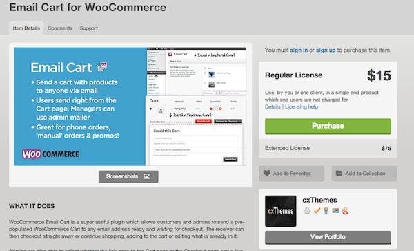 Email Cart for WooCommerce 600