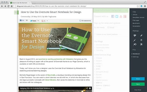 Evernote Web Clipper Extension