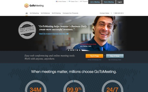 GoToMeeting website
