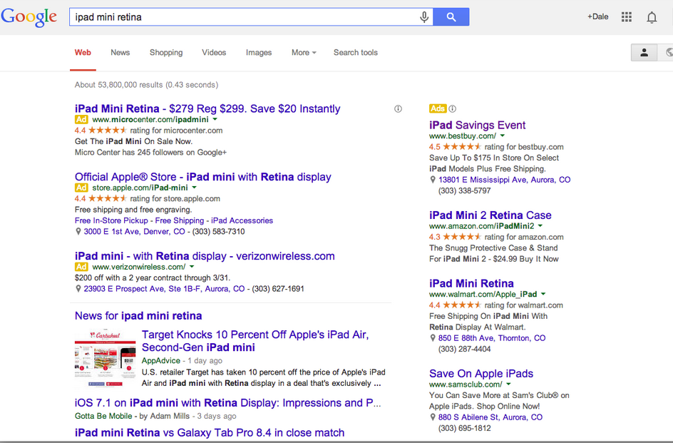 Google Standard Search