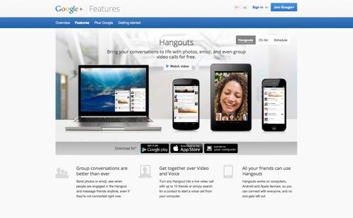 Hangouts website