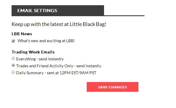 Little Black Bag lets users decide how frequently they get emails