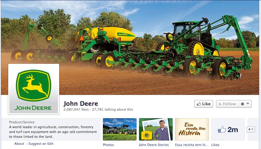 John Deere's Facebook Page