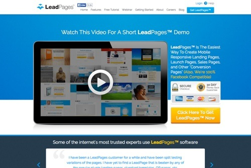 LeadPages website