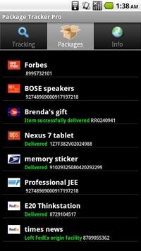 Package Tracker Pro app