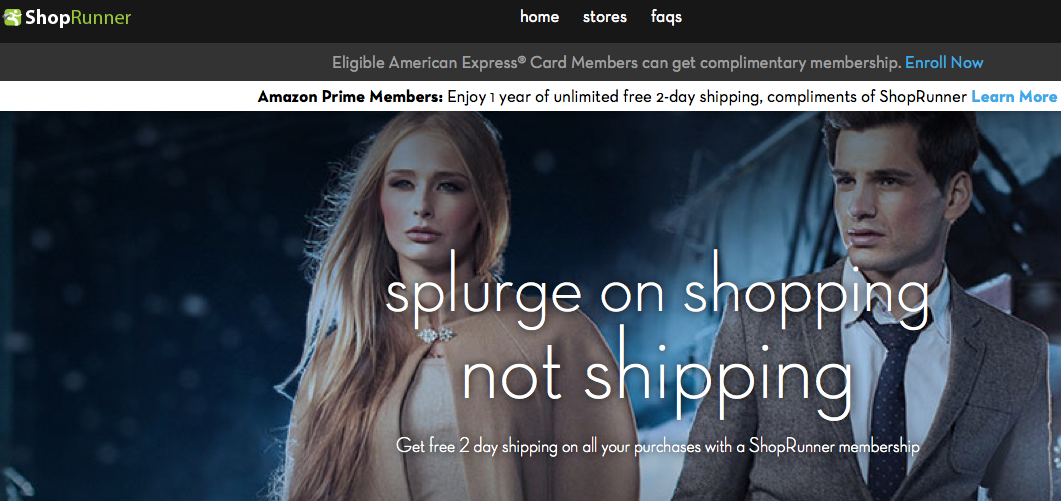 ShopRunner Offer to Amazon Prime Customers