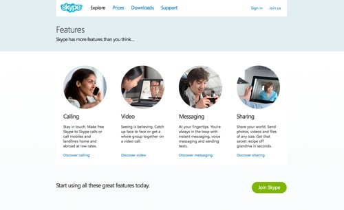 Skype website