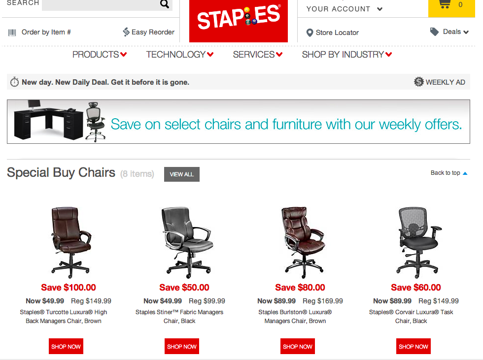 Staples weekly promotion