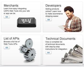 USPS Web Tools APIs page