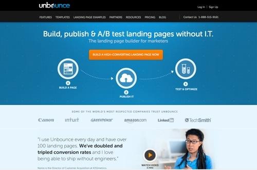 Unbounce website