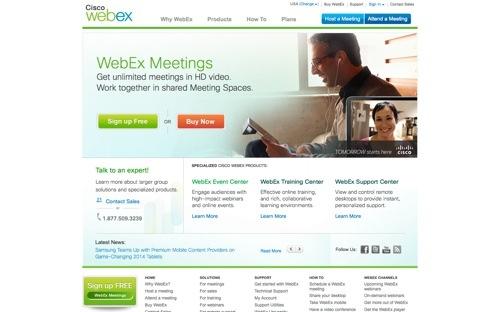 WebEx website
