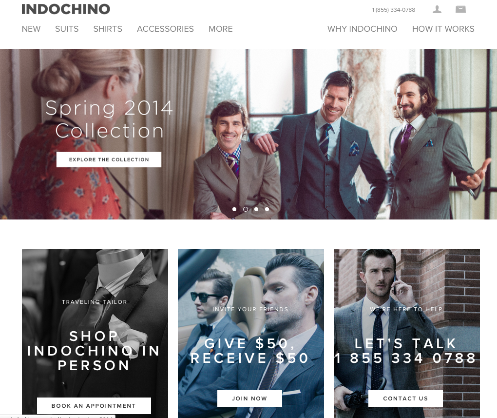 Indochino full-sized homepage